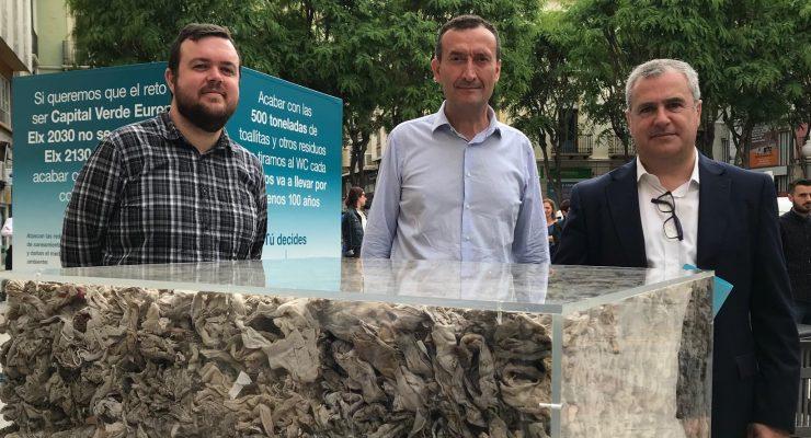 Antonio García, Carlos González y Javier Prieto, en la campaña de #Elx2130