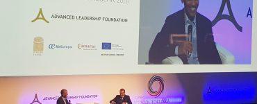 Barack Obama, durante su charla sobre economía circular