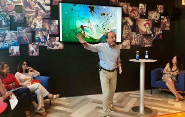 Gallego, en la presentación del programa Mares Circulares de Coca-Cola.