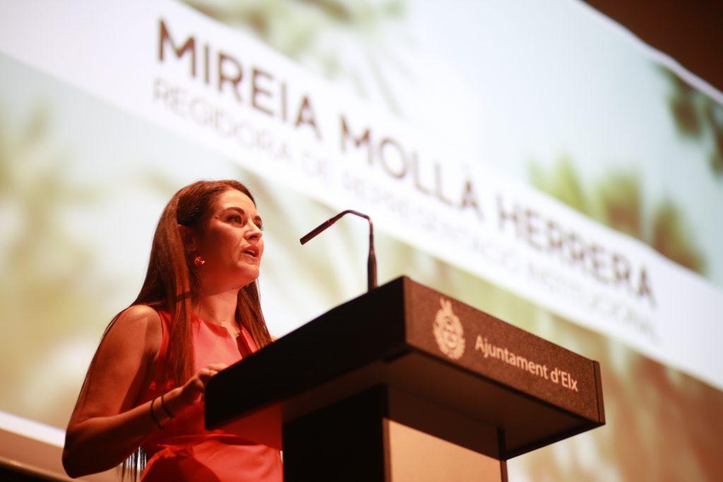 Mireia Mollà destaca los beneficios que ya supone trabajar por Elx 2030.