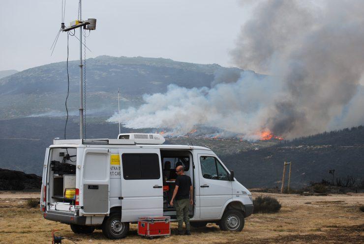 El Ministerio envió medios para ayudar a la extinción de incendios como el de Llutxent. Foto: MAPAMA