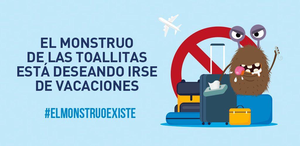 #ElMonstruoExiste es la campaña que recuerda los problemas de usar el inodoro como papelera.