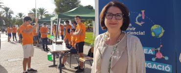 La vicerrectora Amparo Navarro destaca la importancia de la Noche Europea de la Investigación.