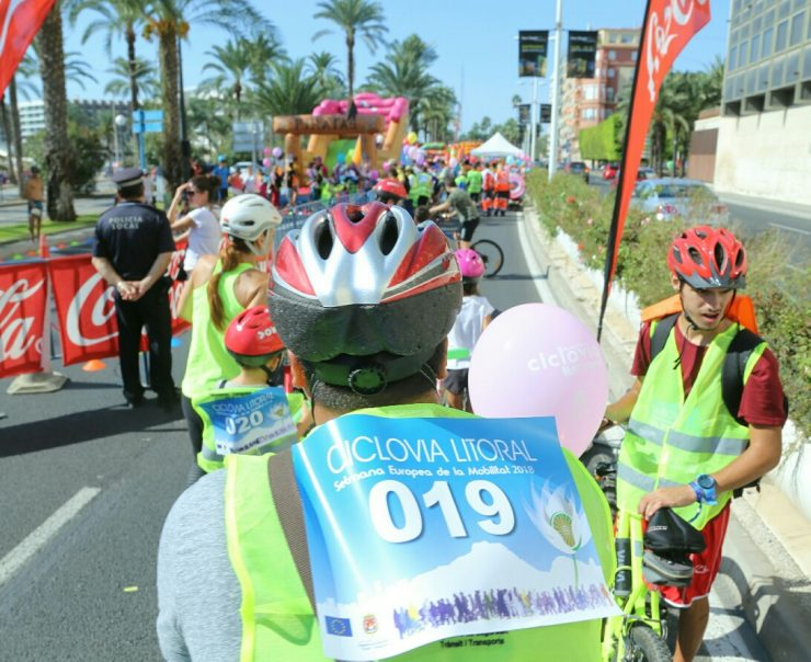 En la Semana de la Movilidad Europea, Alicante ha participado organizando una ciclovía.