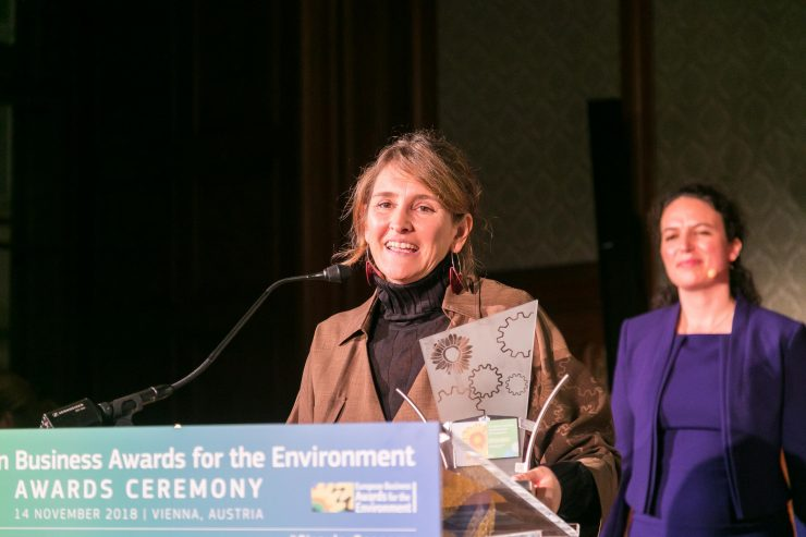 Dulcinea Meijide ha recogido el galardón para Suez España por su proyecto transformador de plantas de agua.
