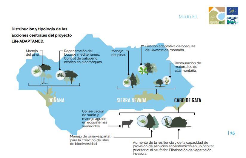 El despliegue de Life Adaptamed en Andalucía.