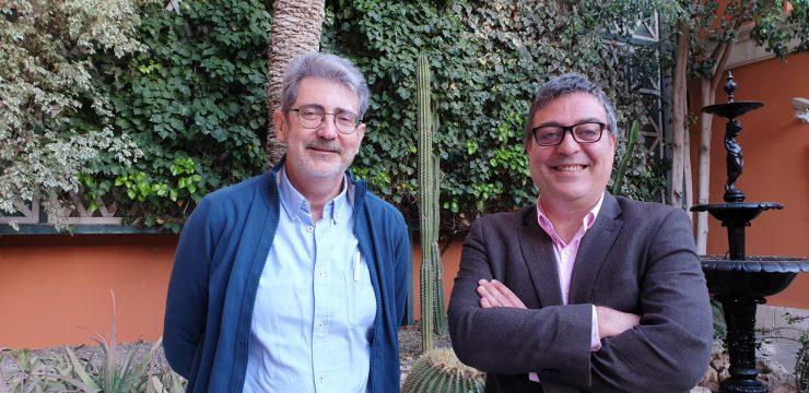 Germán López y Antonio Bañuls destacan la importancia de la investigación de los procesos migratorios en Tabarca, donde destaca la collalba gris.