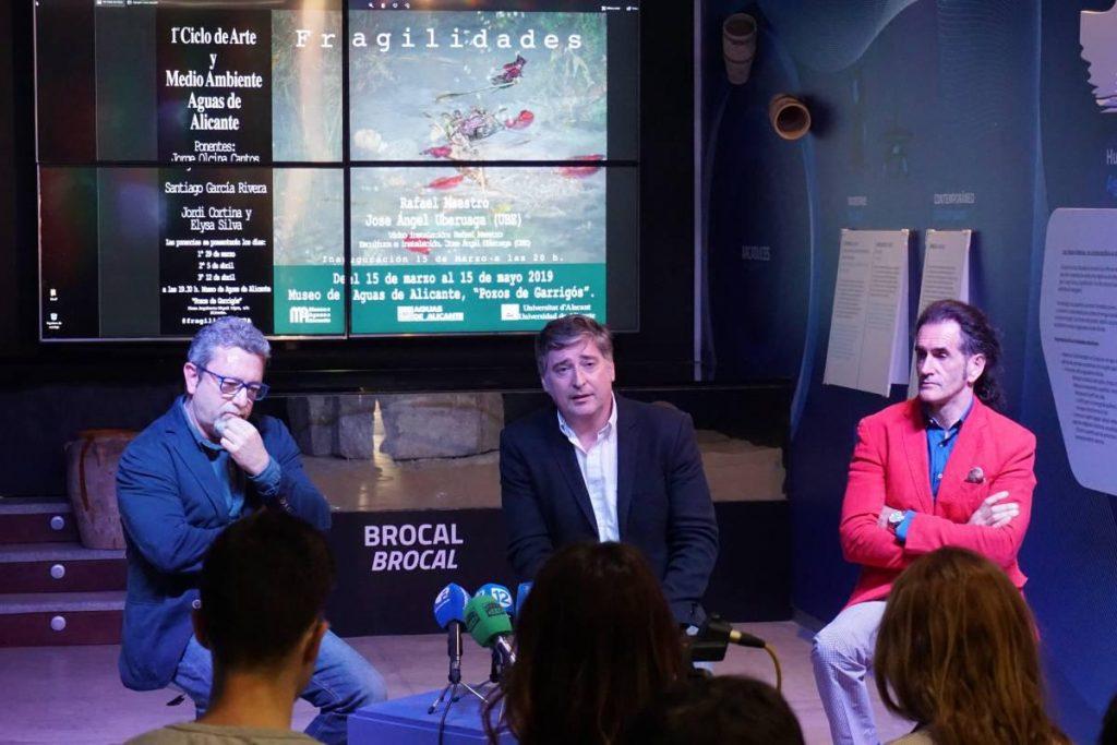 Rafael Maestro, Martín Sanz y José Ángel Uberuaga en la presentación del MA2