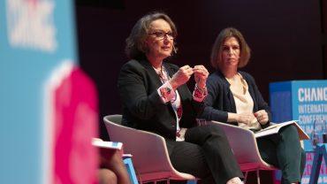 Rebeca Grynspan, durante su charla en Change the Change, el encuentro que acoge Donostia.