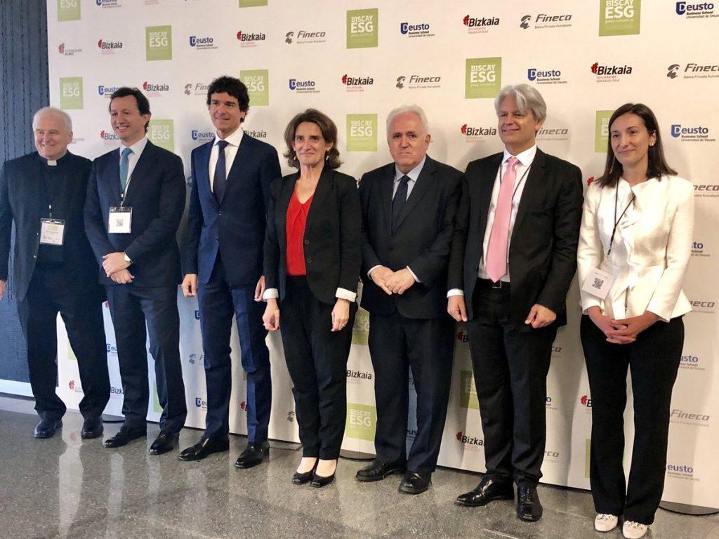 Ribera en la presentación del encuentro sobre inversiones sostenibles.