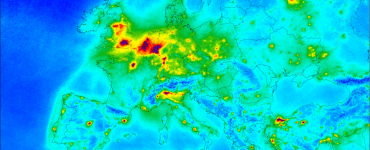 Distribución de las emisiones de dióxido de nitrógeno por el continente europeo | AGENCIA ESPACIAL EUROPEA