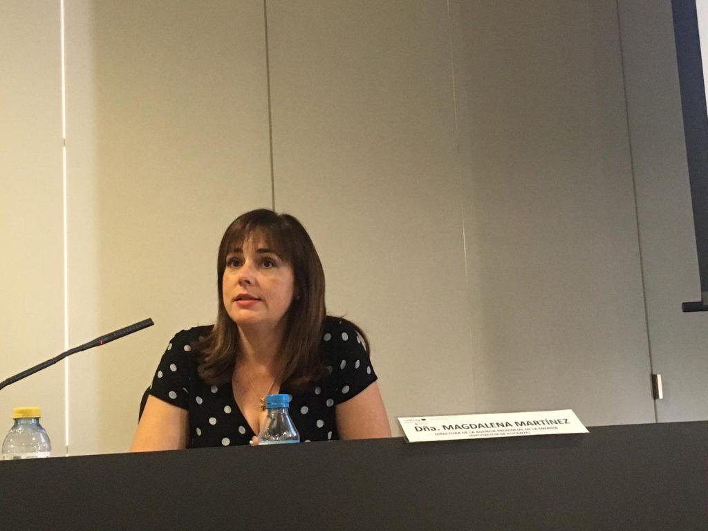 Magdalena Martinez explicó el proceso de transición energética que aplican en los edificios públicos.
