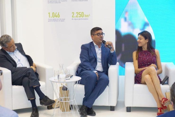 Pedreño, Sánchez y la consellera Carolina Pascual han abordado la Inteligencia Artificial en la segunda jornada de Efiaqua.