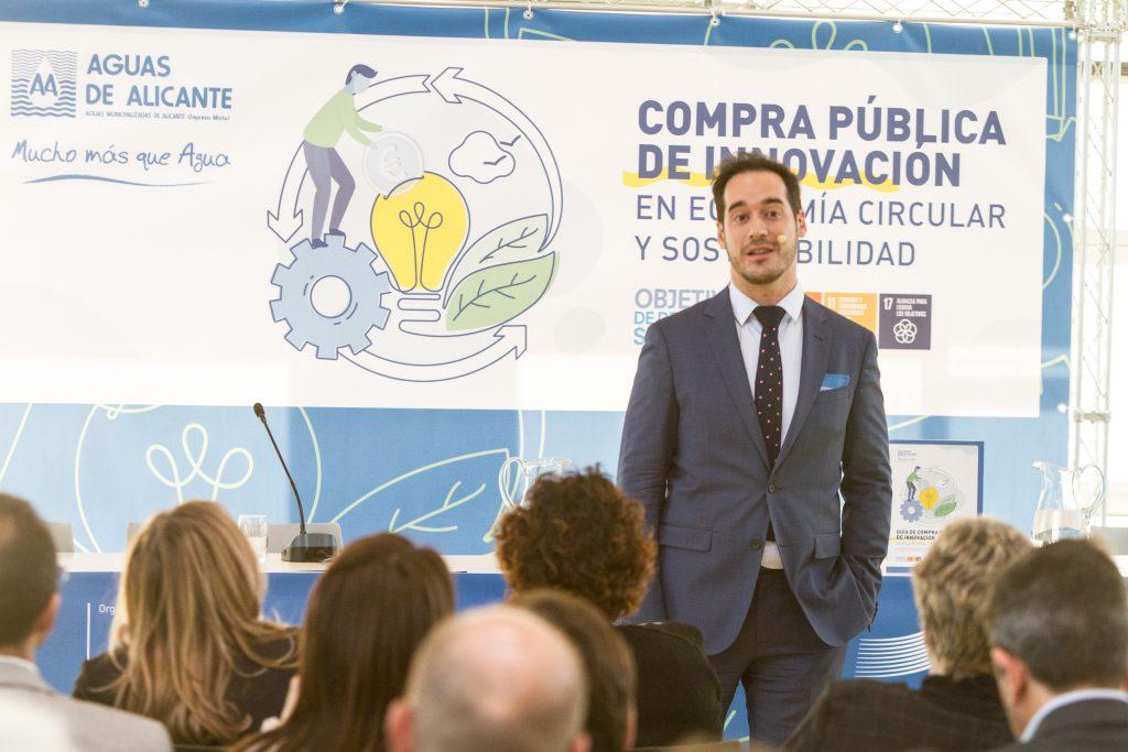 Javier Vázquez ha detallado los procesos de CPI y como esta puede estimular la innovación en la economía circular.