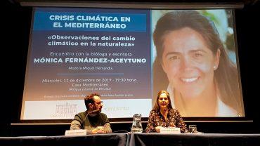 Aceytuno rechaza la politización de la crisis climática en la charla mantenida en Casa Mediterráneo