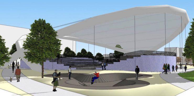 La ejecución del plan Edusi avanza con un 17% de ejecución mientras completa el mapa del Estado del bienestar en Poblats Marítims. Detalle del skatepark en el nuevo polideportivo del Cabanyal - Ajuntament de València