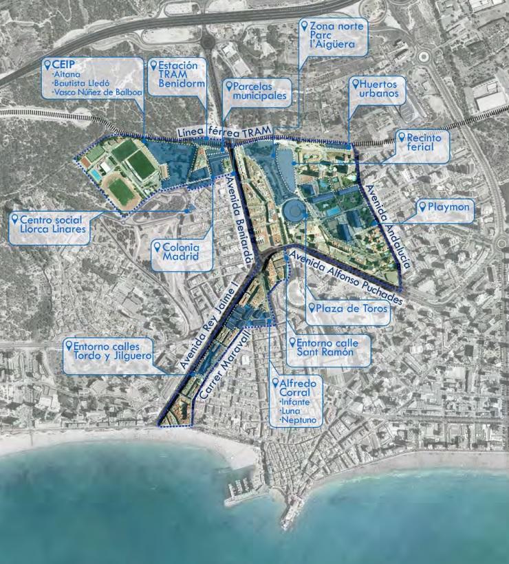 Área de implementación urbana central - Ajuntament de Benidorm