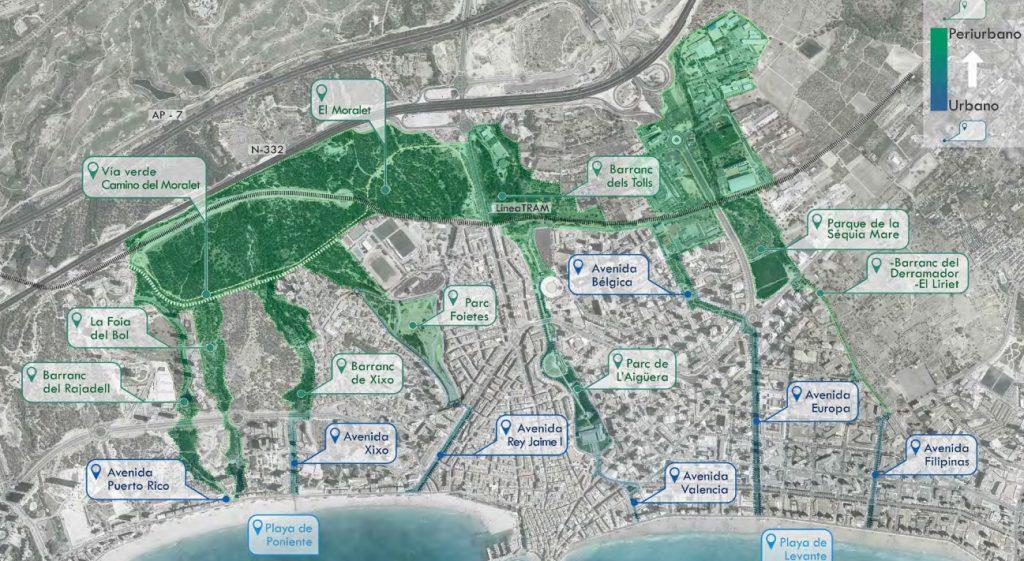 Infraestructura verde de Benidorm - Ajuntament de Benidorm.