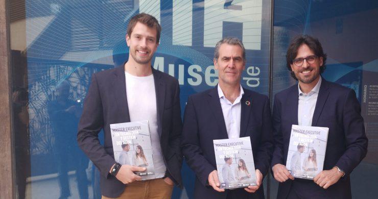 Alejandro García, Joaquín Marco y Lluc Pejó han presentado la nueva edición del Master Executive con Aguas de Alicante