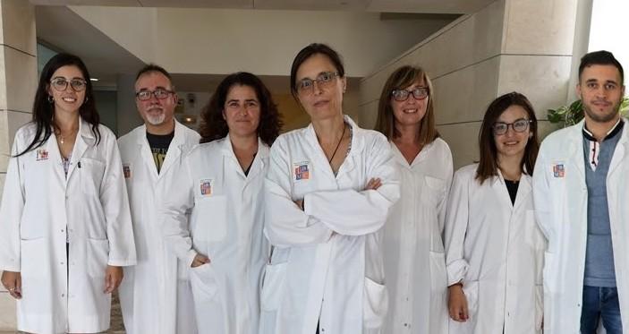 La investigadora María del Mar Ortega-Villaizán y los miembros de su equipo. Fuente: UMH