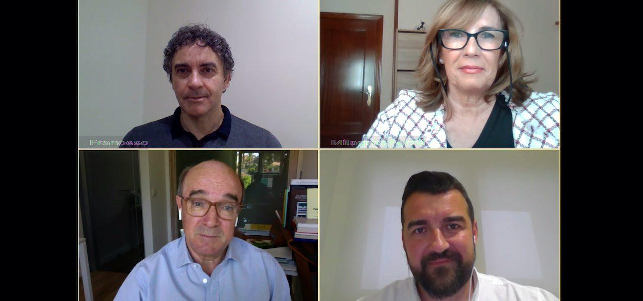 #encuentrosiambiente4 reúne a Francesc Colomer, Milagros Fernández, Toni Mayor y José Mancebo para hablar de turismo y seguridad tras la covid-19.