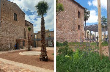 La actuación incluye fuentes de agua, pavimentos vegetales y estructuras metálicas para acoger nuevas actividades. Foto Ajuntament de Borriana