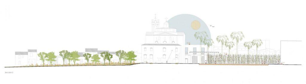 La vegetación contribuirá a la integración paisajística del nuevo Jardí de l'Hospital. Foto El Fabricante de Espheras