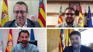 La digitalización destaca la provincia de Alicante entre las regiones de Europa. Así lo cuentan Luis Barcala, Toni Pérez, Eduardo Dolón y Adrián Ballester.