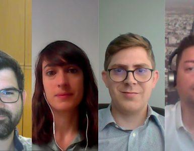 Xavier Ruiz, Elisabet Mateu, Guillermo Mas y Alejandro Albiach hablan de la suma de capacidades que supone la colaboración entre corporaciones y empresas emergentes