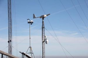 Una de las estaciones meteorológicas ubicadas en el Vedat de Torrent.