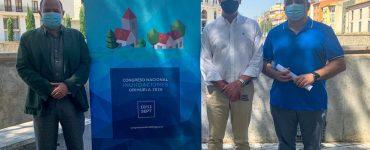El alcalde de Orihuela, Emilio Bascuñana, en la presentación del congreso nacional de inundaciones.