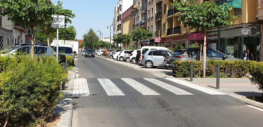 En la calle Trafalgar se prevé tantas plazas generales como reservadas para personas con movilidad reducida