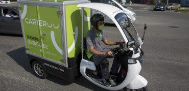 Los vehículos eléctricos de Carteroo pueden cargar hasta 400 kilos y se moverán en Pamplona a un máximo de 30 km/h.