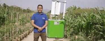 La ONU elige el proyecto Yawa de Max Hidalgo como parte de los siete Jóvenes Campeones de la Tierra para luchar contra el estrés hídrico.