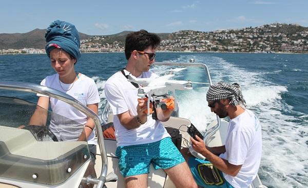 Los investigadores Morgana Vighi, Odei García-Garin y Bertrand Bouchard.
