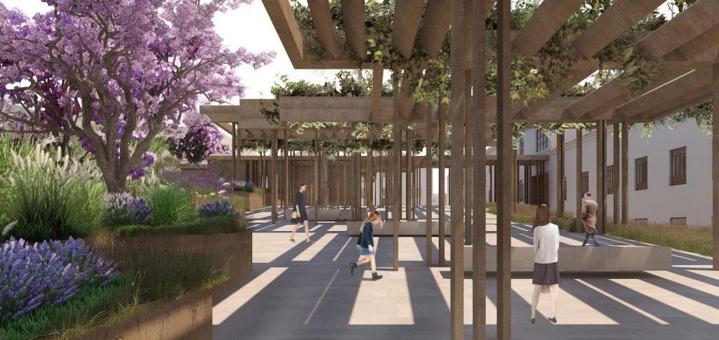 El proyecto de Ramón Esteve Estudio abre el complejo al derribar parte de sus muros y crear nuevas zonas ajardinadas. Foto: REE