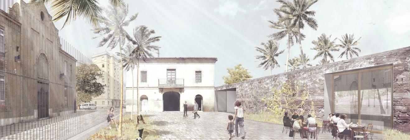 Patio de la Casa dels Bous proyectado por El Fabricante de Espheras