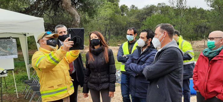 Pascual ha visitado las instalaciones del proyecto europeo para el Parc Natural del Túria presenta sus avances riego automatizado y eliminación de microcontaminantes.