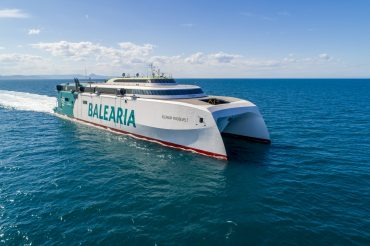 El Eleanor Roosevelt de Baleària es el ferri rápido que ha conseguido este trayecto de menor impacto en emisión de gases.