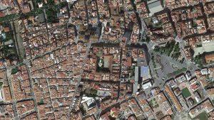 Vista aérea de l'Eix Cívic de Benicarló