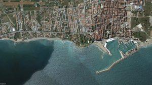 Vista aérea del corredor litoral de Benicarló