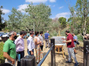 Mireia Mollà en la visita a las actuaciones del proyecto Guardian.