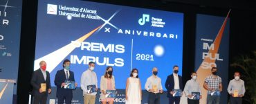 Foto de familia en la gala Impulso que organiza la UA.
