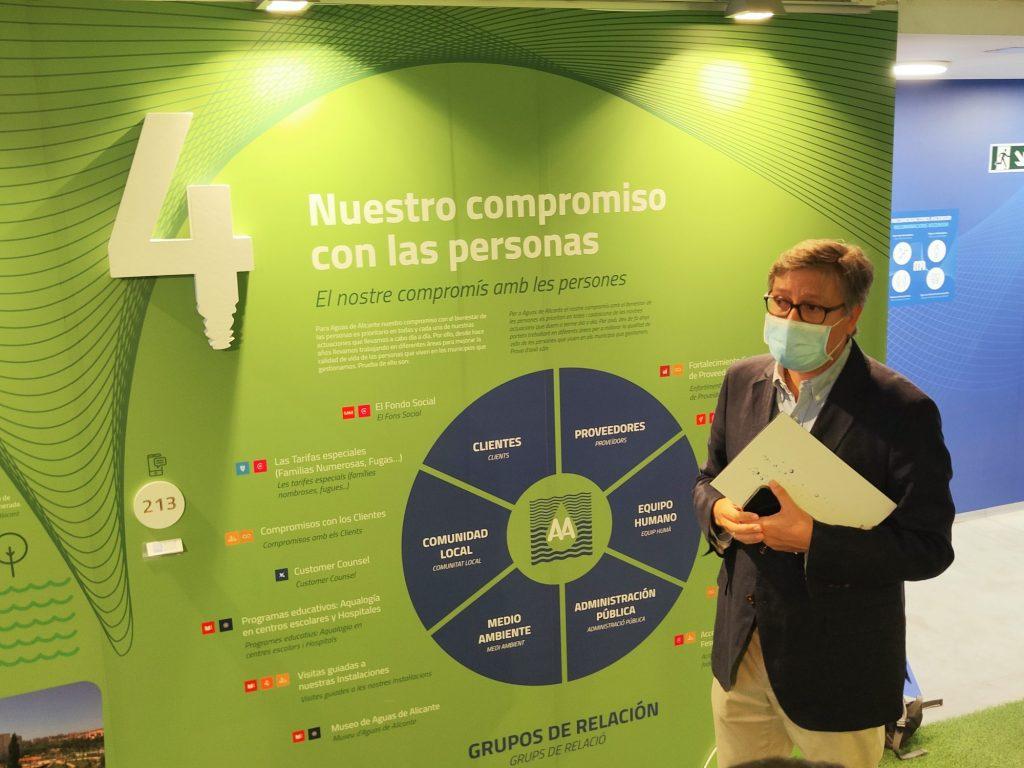 Javier Díez ha presentado los cambios en la reapertura delMuseo de Aguas de Alicante.