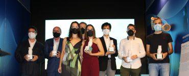 La foto de familia de los premiados en la primera edición de los premios iambiente.